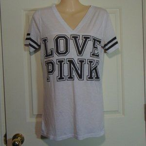 Pink Victoria's Secret Love Pink Tee Medium